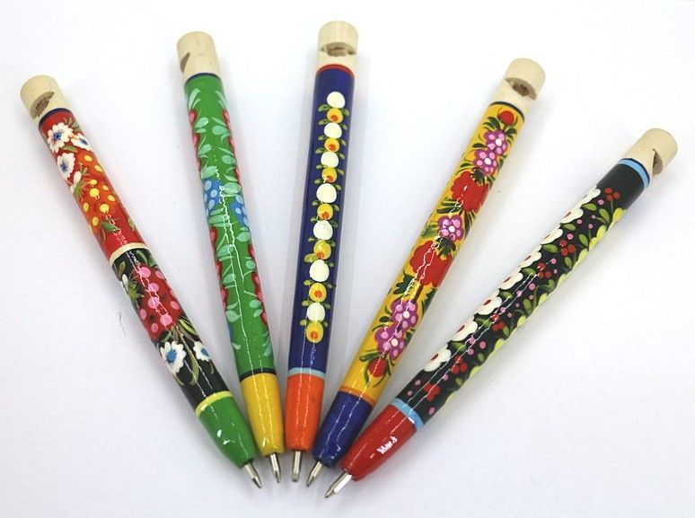 Ручка - свистулька с Петриковской росписью