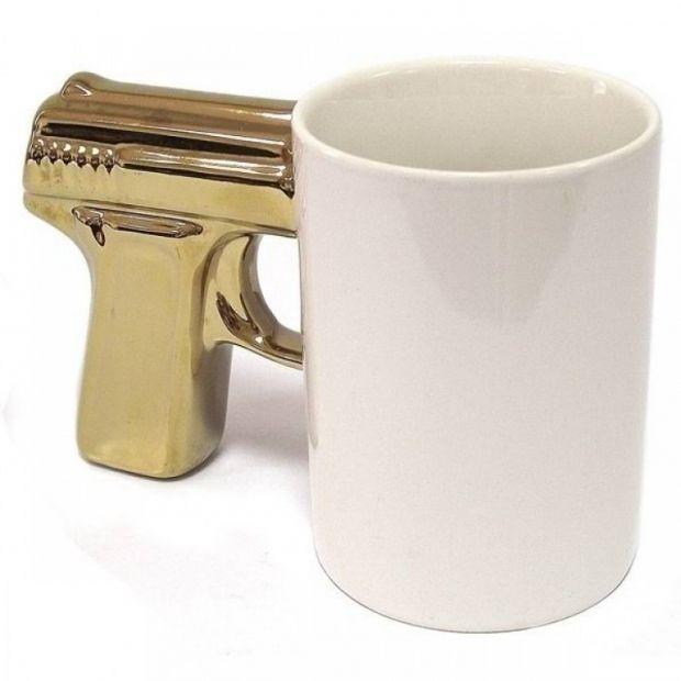 """Чашка """"Пистолет Gold"""""""