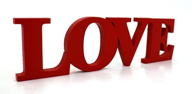 """Объемное слово """"Love"""" №2(в красном)"""