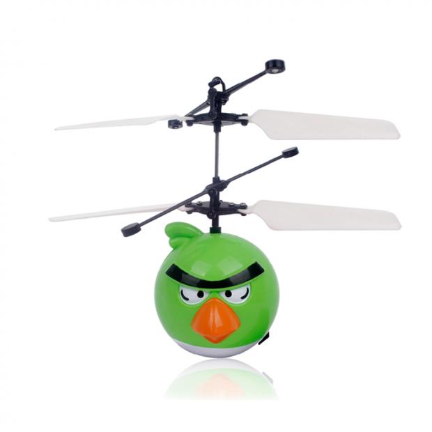 """Летающая игрушка """"Angry birds"""" (зеленый)"""