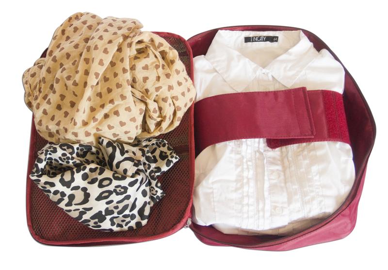 """Органайзер для блуз и рубашек """"Woman`s Travel"""" для путешествий, бордовый"""