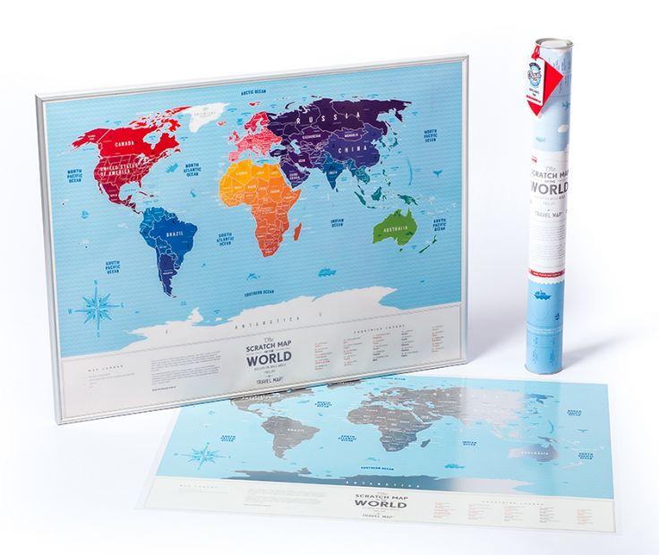 """Скретч карта мира Travel Map """"Silver World"""" (на английском языке)"""