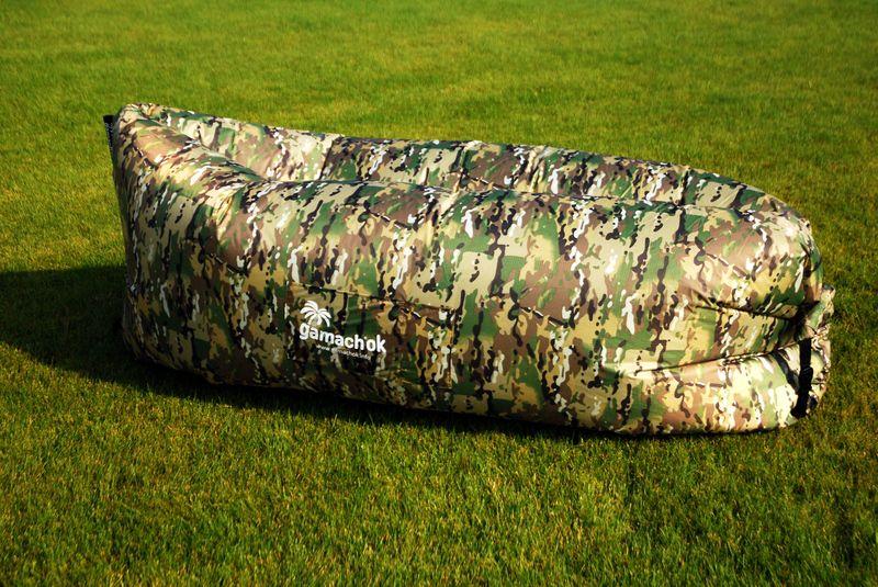 Надувной диван-шезлонг, камуфляж