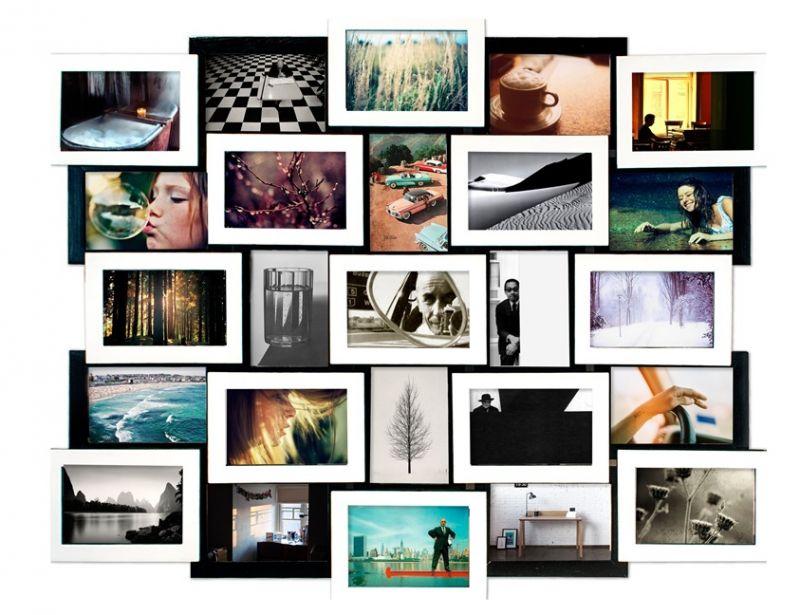 """Мультирамка для фотографий """"Черное и белое. Коллаж 25 фото"""""""