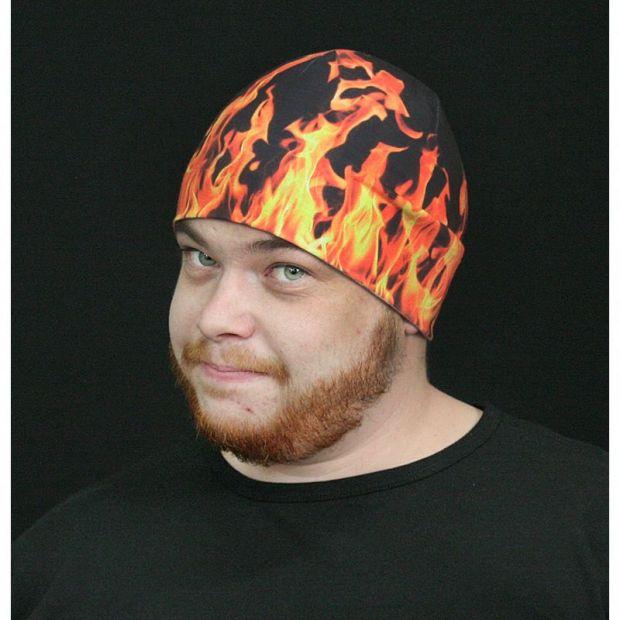 """Прикольная шапка не только на Хеллоуин """"Огонь"""""""