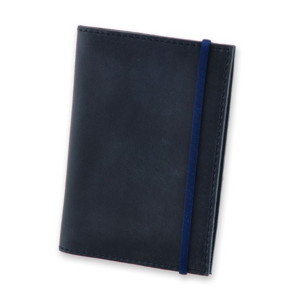 """Обложка для паспорта """"Ночное небо"""" (натур. кожа) + блокнотик"""