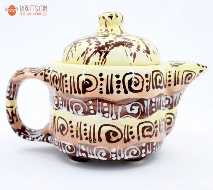 Чайник керамический (44) (ручная работа)
