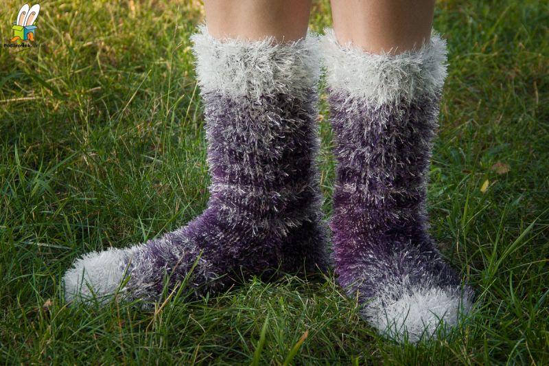 """Сверхпушистые носки нарядные """"Рыбка моя"""""""
