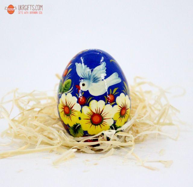 Писанка. Деревянное пасхальное яйцо с Петриковской росписью (07)