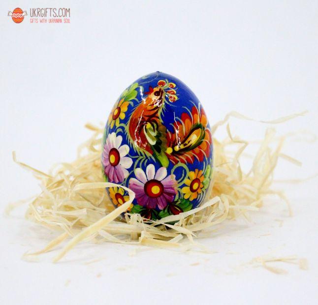 Писанка. Деревянное пасхальное яйцо с Петриковской росписью (11)