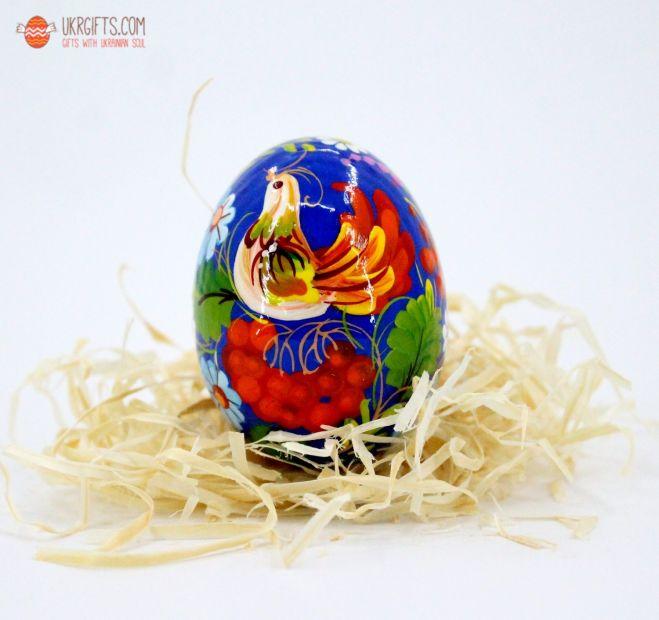 Писанка. Деревянное пасхальное яйцо с Петриковской росписью (12)