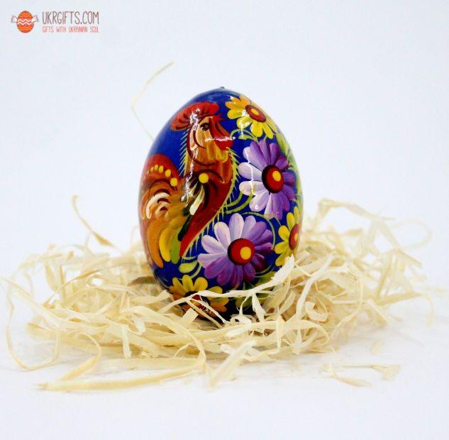 Писанка. Деревянное пасхальное яйцо с Петриковской росписью (13)