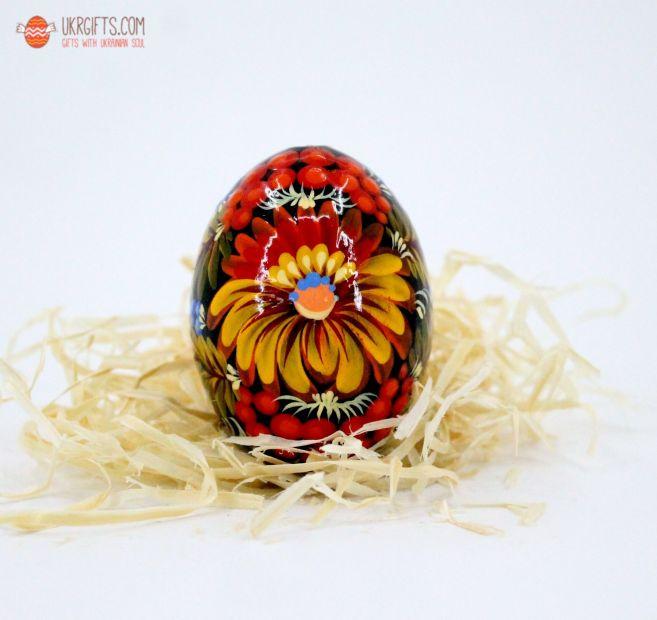 Писанка. Деревянное пасхальное яйцо с Петриковской росписью (14)