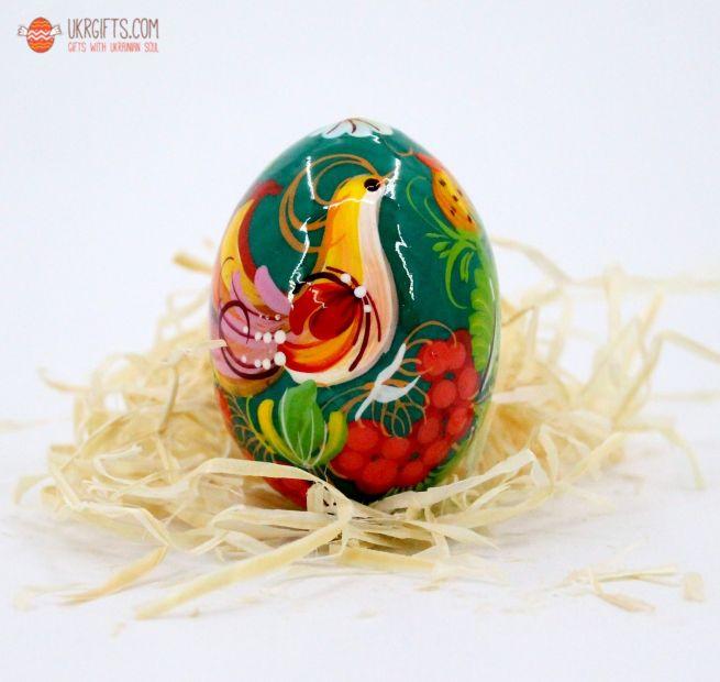 Писанка. Деревянное пасхальное яйцо с Петриковской росписью (17)