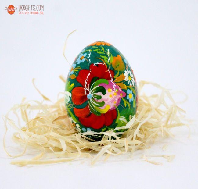 Писанка. Деревянное пасхальное яйцо с Петриковской росписью (18)
