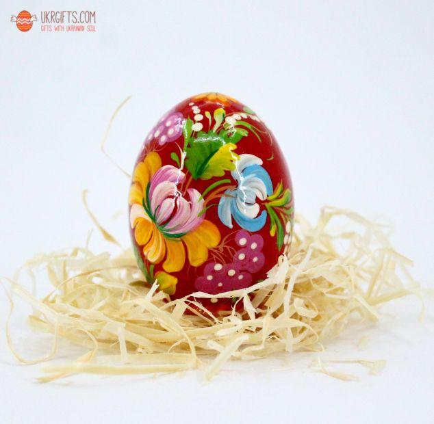 Писанка. Деревянное пасхальное яйцо с Петриковской росписью (19)