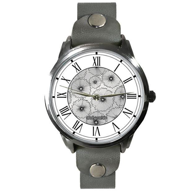 "Часы наручные ""Серебряные цветы"""