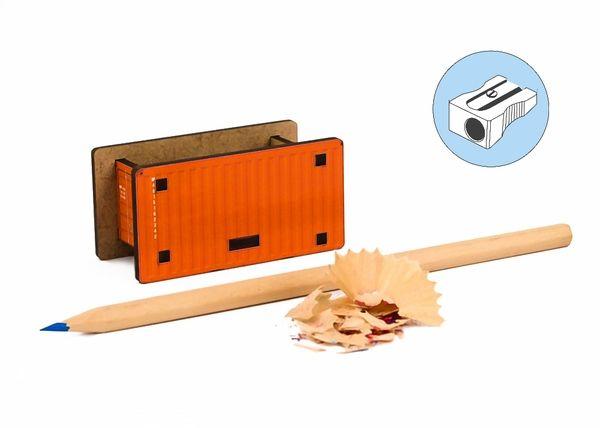"""Точилка для карандашей """"Контейнер"""" (оранжевый)"""