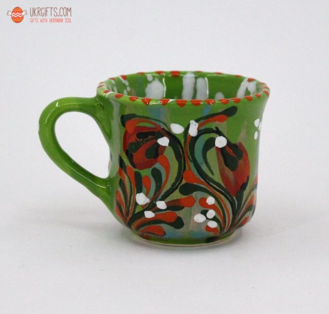 Чашка для кофе керамическая 0.1 л, (03)