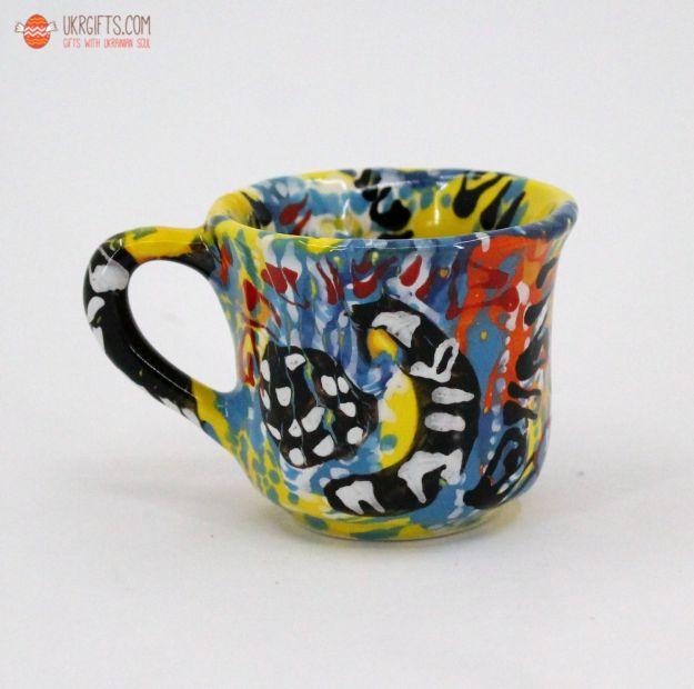 Чашка для кофе керамическая 0.1 л, (05)