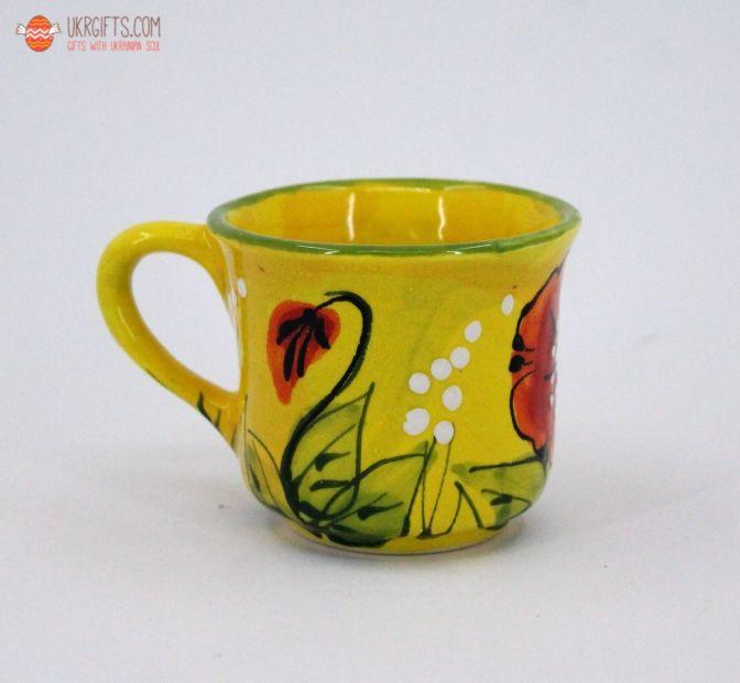 Чашка для кофе керамическая 0.1 л, (07)