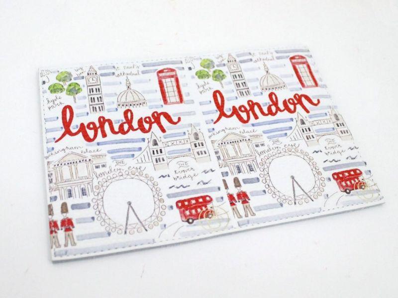 """Обложка для паспорта """"Лондон"""" (натур. кожа)"""