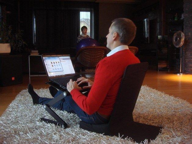 Портативное кресло (цв.черный) для комфортной работы, отдыха, медитации, семинаров