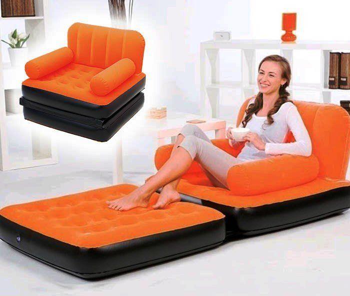 """Надувноя кресло для отдыха и сна """"Гостям всегда рады"""""""