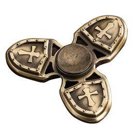 Спиннер Hand Fidget Spinner CRUSADER Крестоносец, темное золото