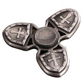 Спиннер Hand Fidget Spinner CRUSADER Крестоносец, серебро