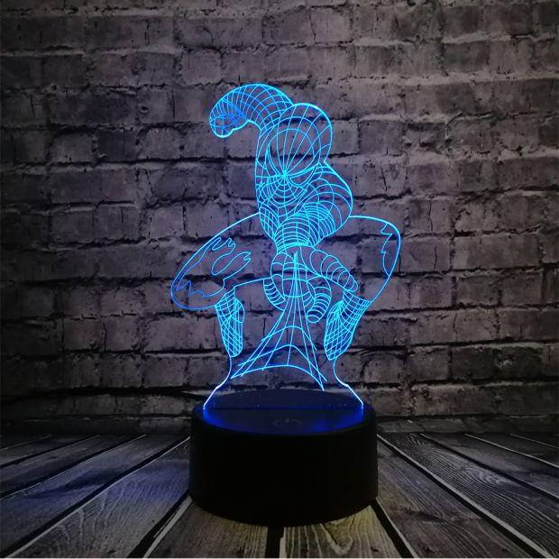 """Светодиодный светильник 3D """"Человек-паук"""""""