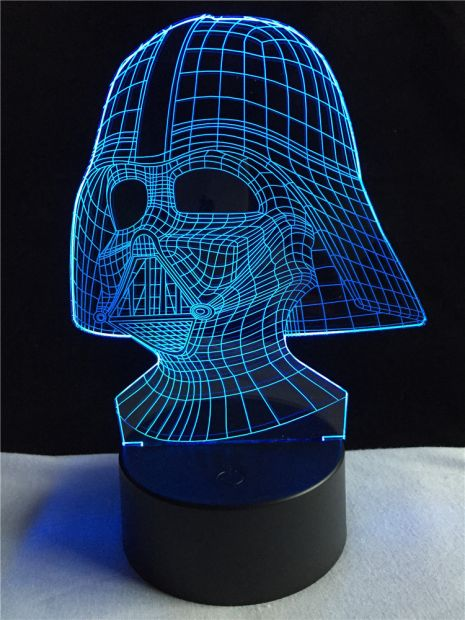 """Светодиодный светильник 3D """"Дарт Вейдер"""""""