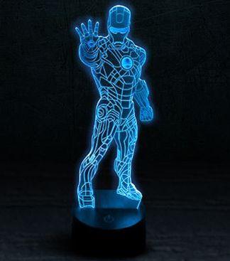 """Светодиодный светильник 3D """"Железный человек"""" (02)"""