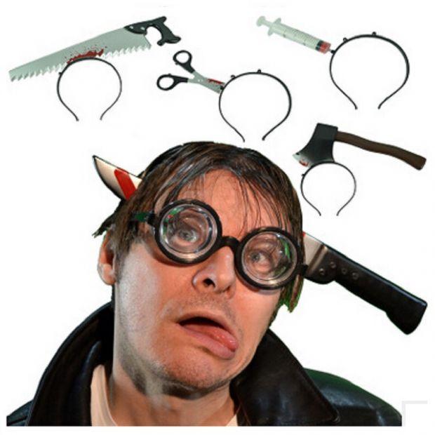"""Обруч на Хэллоуин """"Нож в голове"""""""