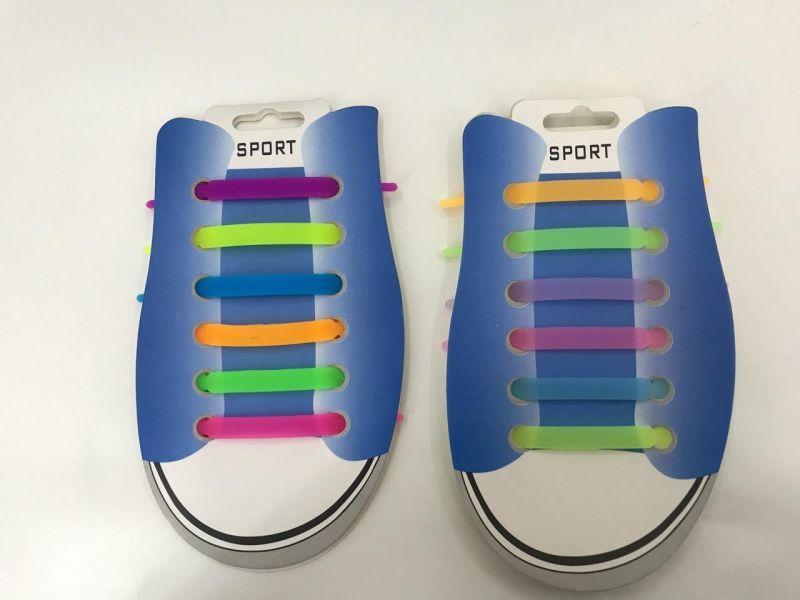 Силиконовые цветные шнурки