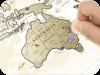 Скретч карта «Discovery Map World Gold» с наклейками (на английском)