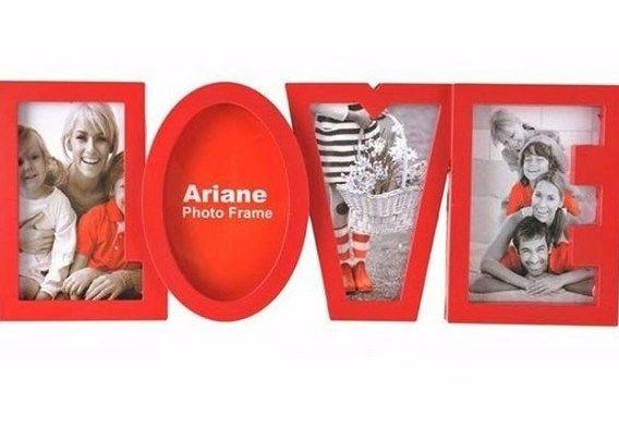 "Мультирамка для фотографий ""Love"", красная"
