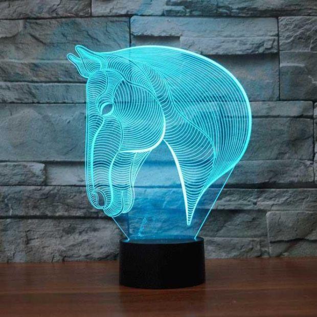 """Светодиодный светильник 3D """"Лошадь"""""""