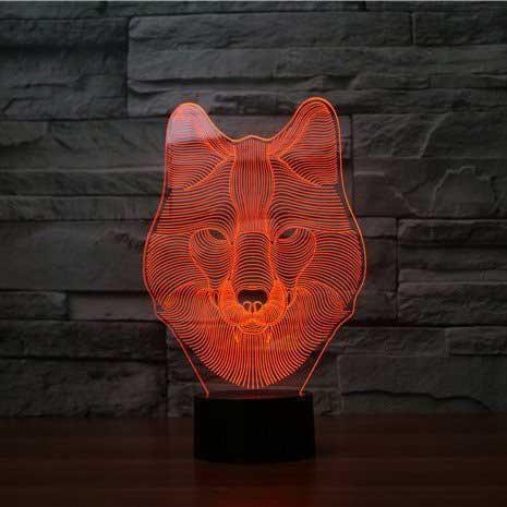 """Светодиодный светильник 3D """"Волк"""""""