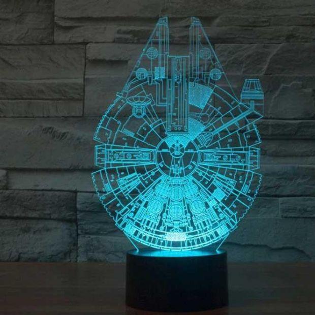 """Светодиодный светильник 3D """"Сокол тысячелетия"""""""