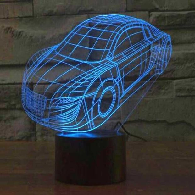 """Сенсорный светильник 3D """"Автомобиль"""""""