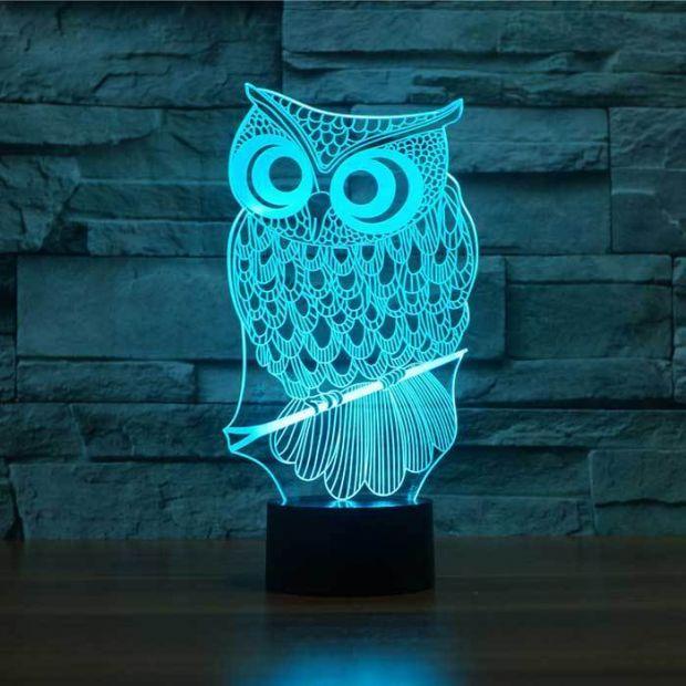 """Сенсорный светильник 3D """"Сова"""""""