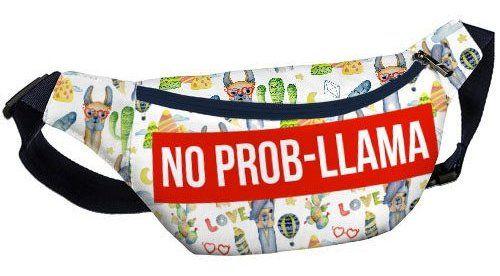 "Напоясная сумка, бананка ""No Prob-llama"""