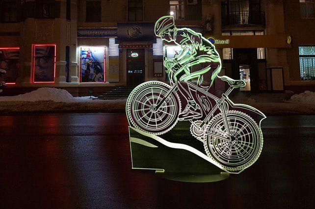 """Сенсорный светильник 3D """"Велогонщик"""""""