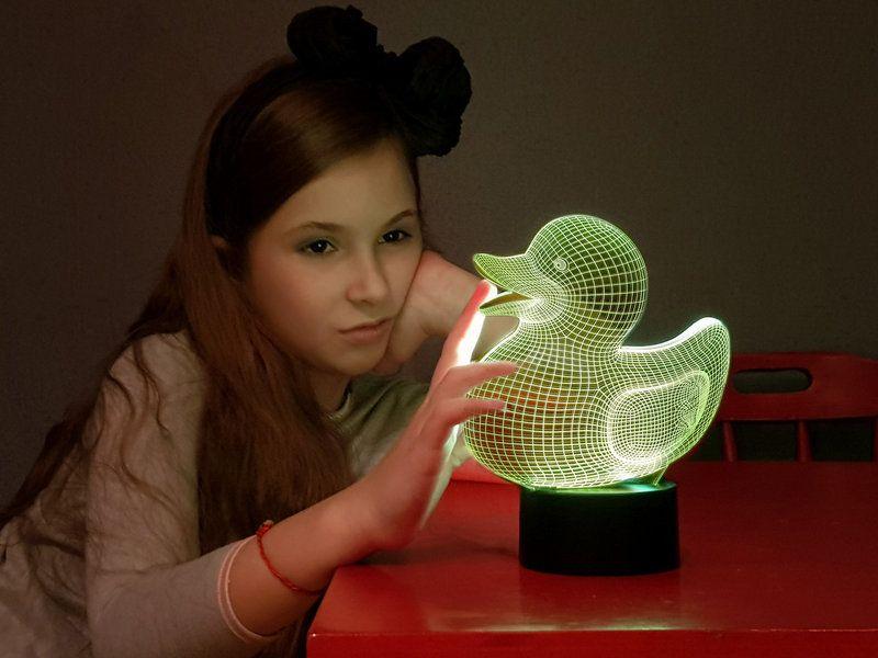 """Сенсорный светильник 3D """"Уточка"""""""