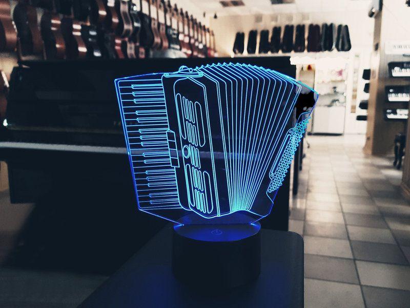 """Сенсорный светильник 3D """"Аккордеон"""""""