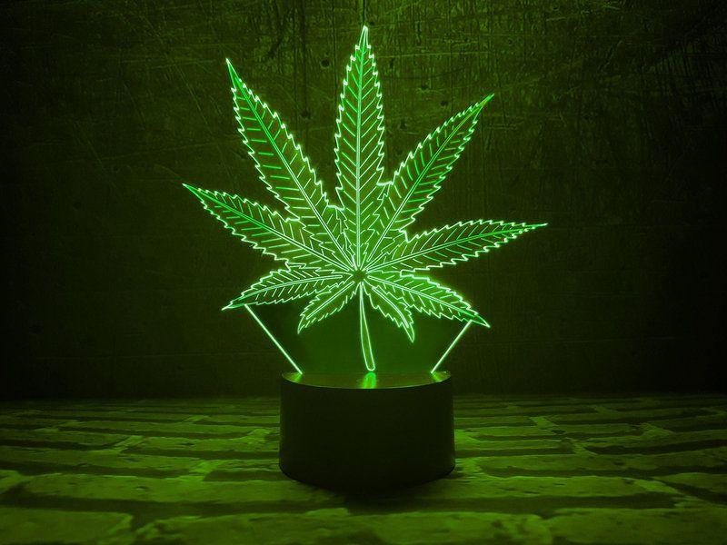 """Сенсорный светильник 3D """"Лист Растамана"""""""