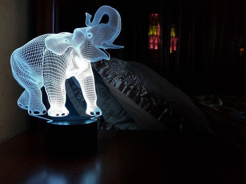 """Сенсорный светильник 3D """"Слон"""""""
