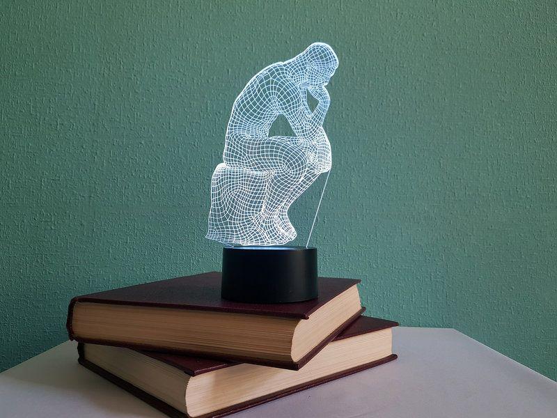 """Сенсорный светильник 3D """"Мыслитель"""""""