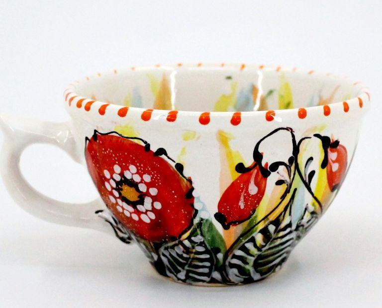 Чашка керамическая 0.5л. (46) (ручная работа)